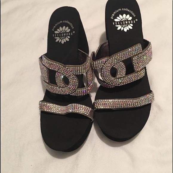 7b6fc2eee Yellowbox wedge bling sandals. M 5bebbd5fc2e9fe8e4c2e1b72